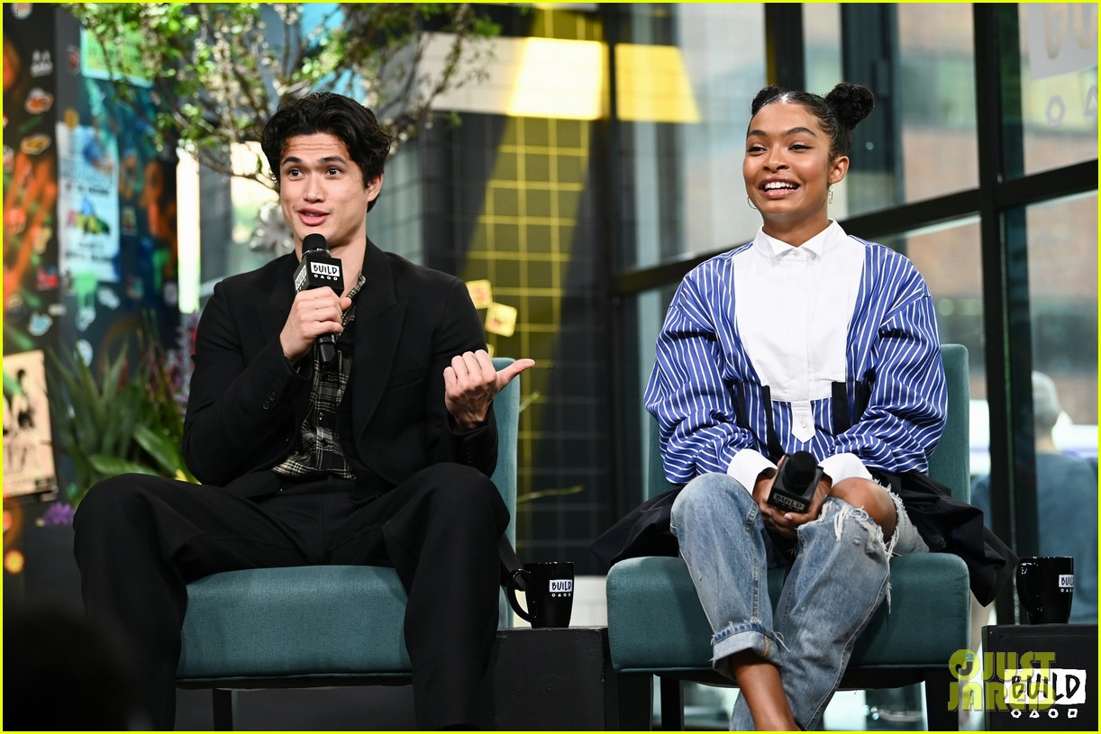 yara shahidi charles melton sun fan screening nyc 11