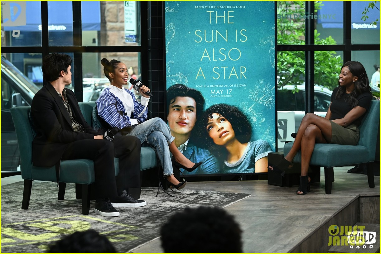 yara shahidi charles melton sun fan screening nyc 14