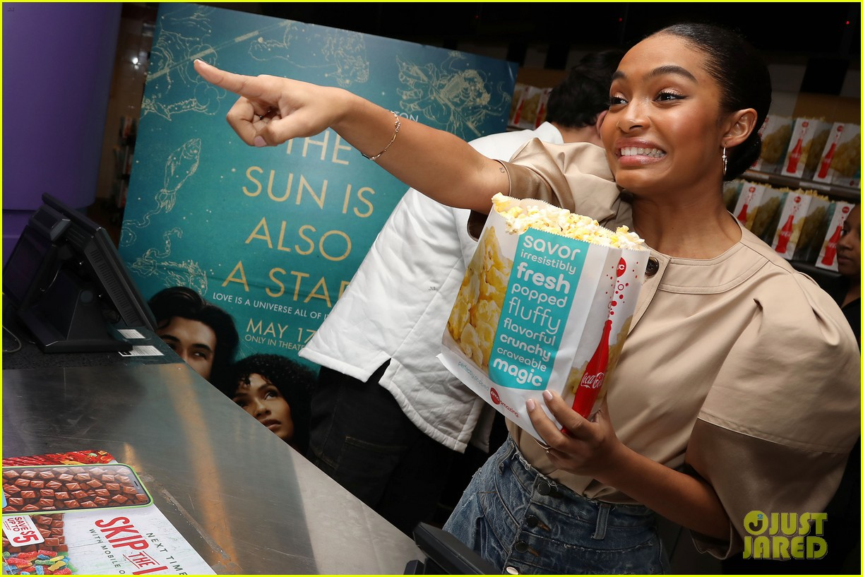 yara shahidi charles melton sun fan screening nyc 15