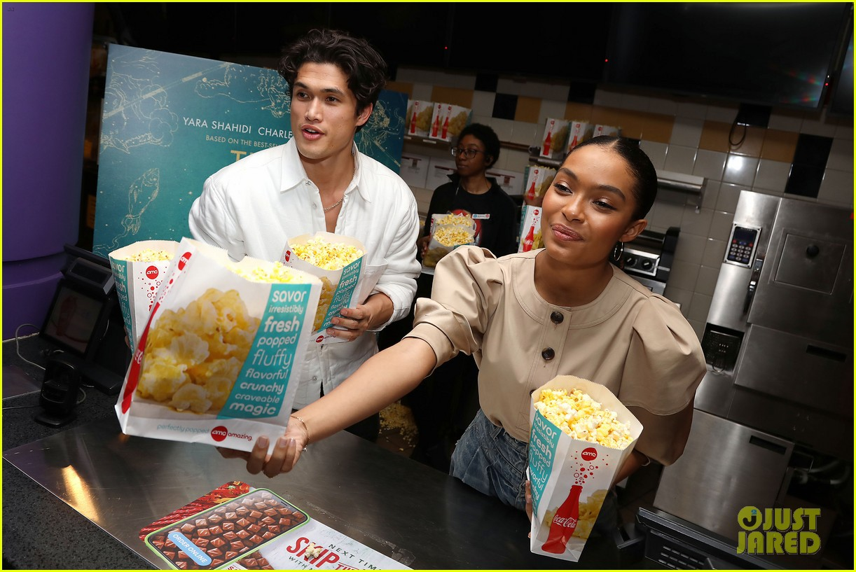 yara shahidi charles melton sun fan screening nyc 16