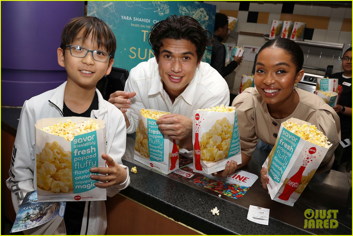 yara shahidi charles melton sun fan screening nyc 17