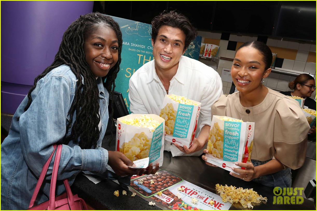 yara shahidi charles melton sun fan screening nyc 19