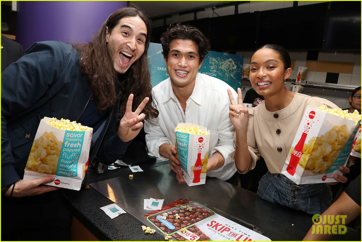 yara shahidi charles melton sun fan screening nyc 21