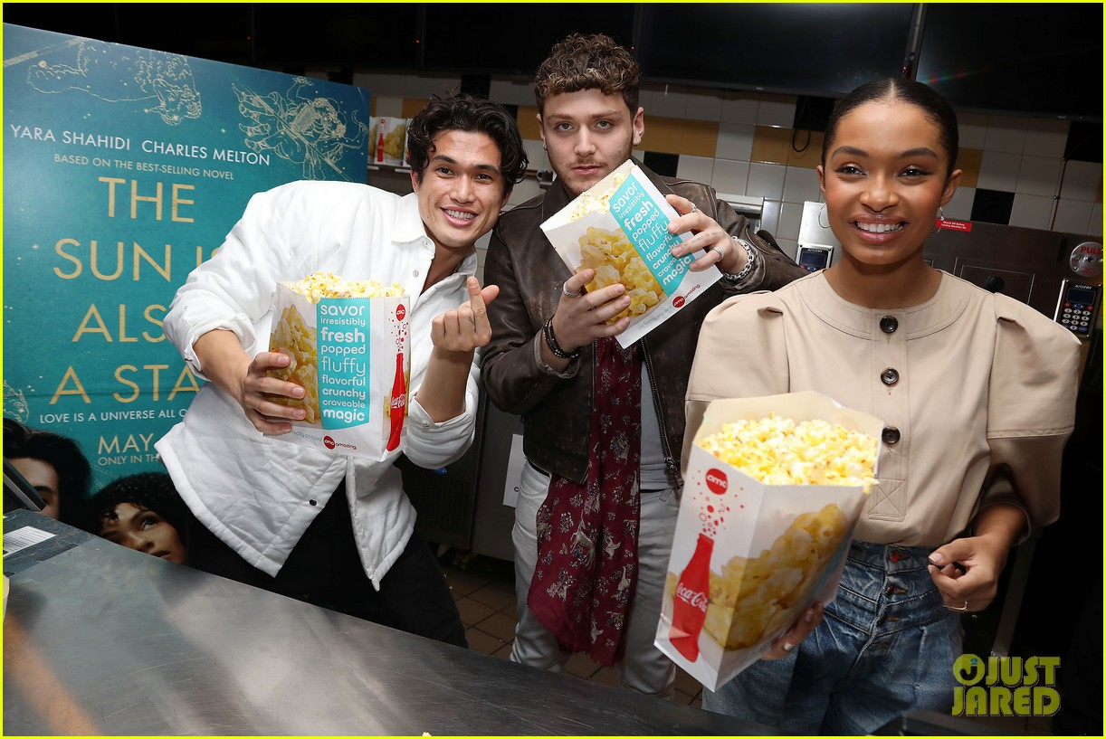 yara shahidi charles melton sun fan screening nyc 23