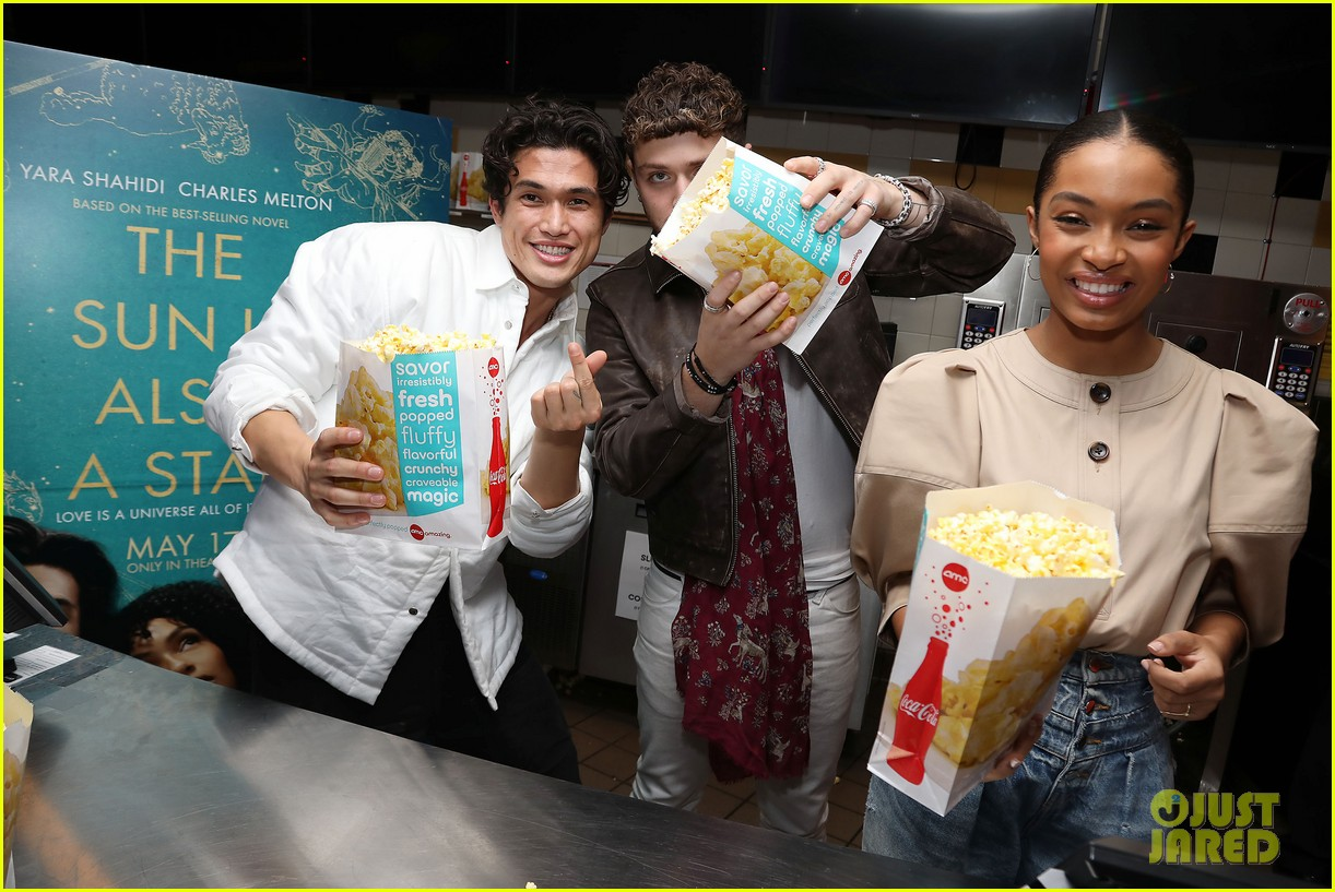 yara shahidi charles melton sun fan screening nyc 24
