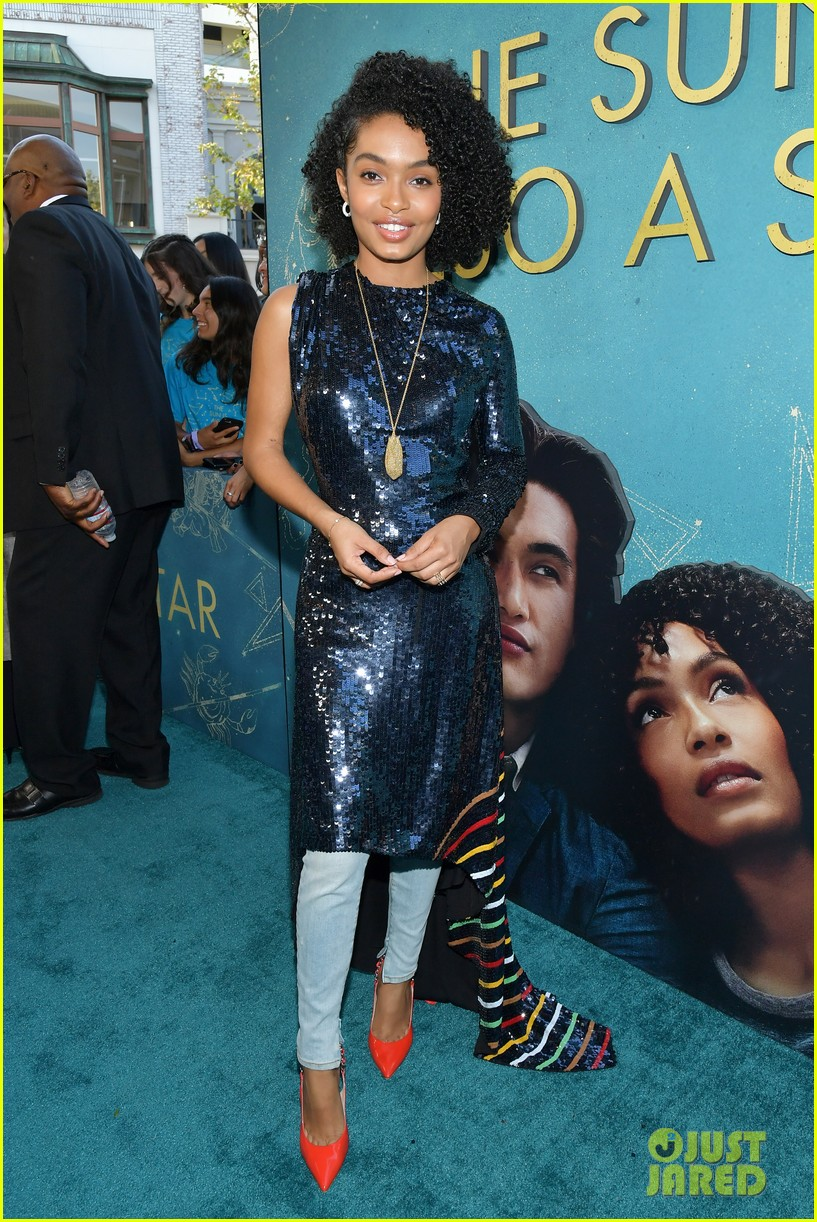 yara shahidi charles melton step out for the sun is also a star premiere 024290750