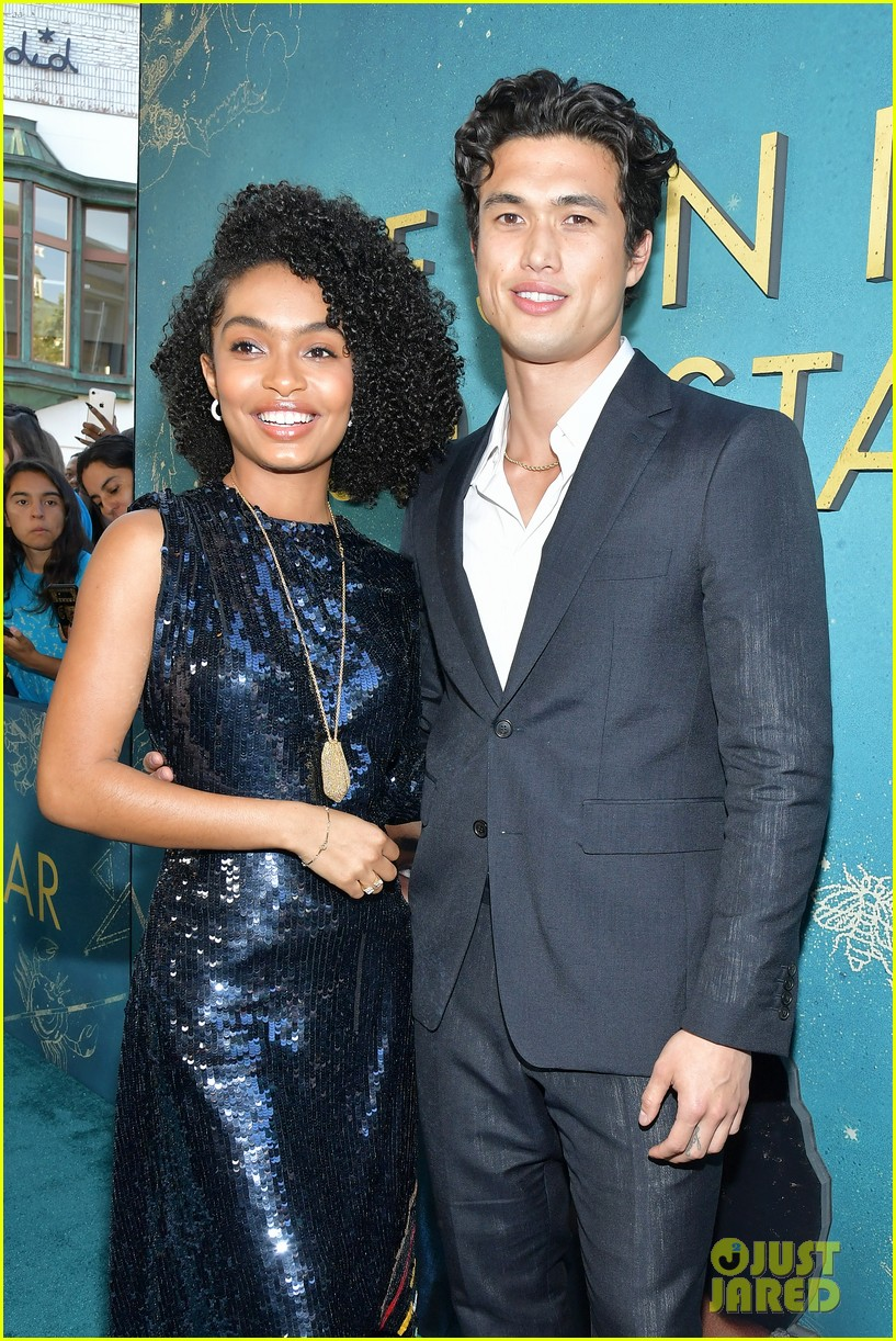 yara shahidi charles melton step out for the sun is also a star premiere 034290751