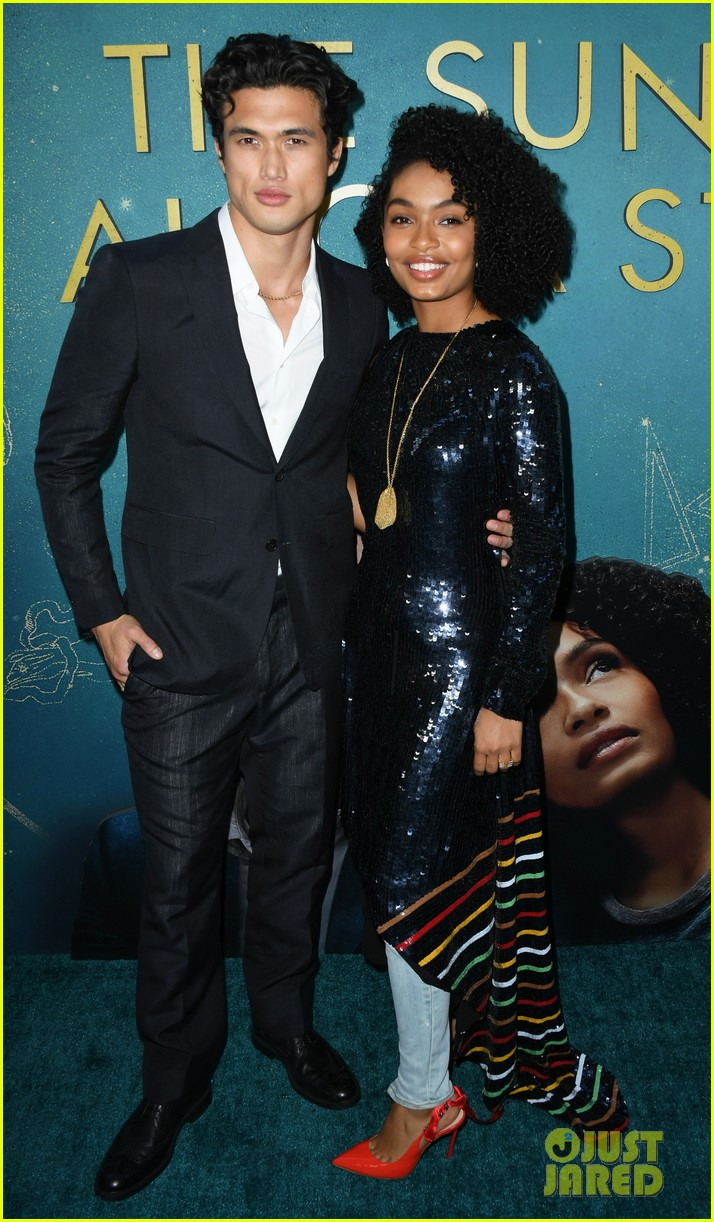 yara shahidi charles melton step out for the sun is also a star premiere 054290753