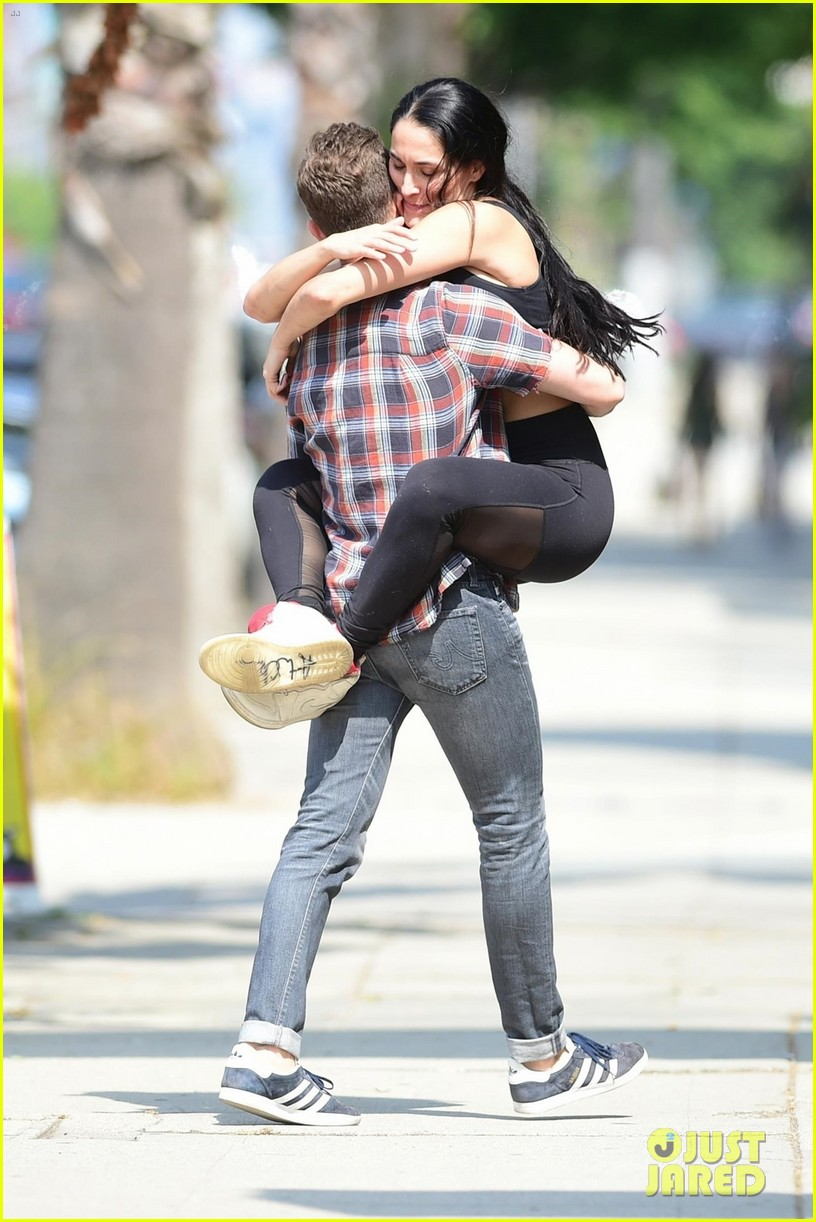 nikki bella hops into boyfriend artem chigvintsev arms in studio city 034314378