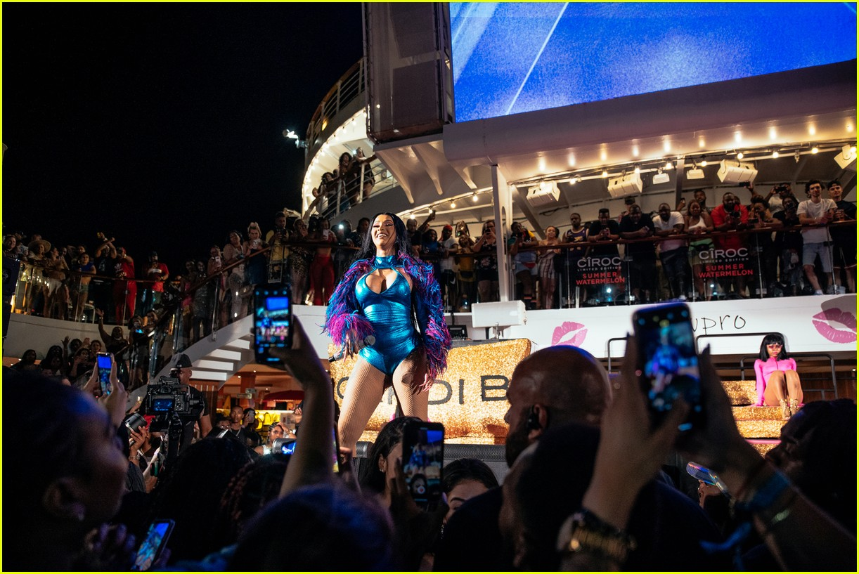 cardi b performs on cruise ship 17