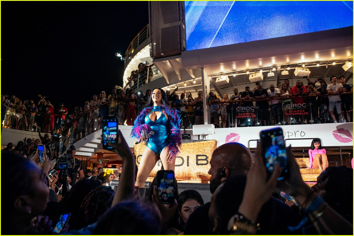 cardi b performs on cruise ship 18
