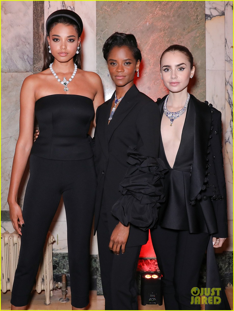 lily collins diana silvers more cartier event 024309329