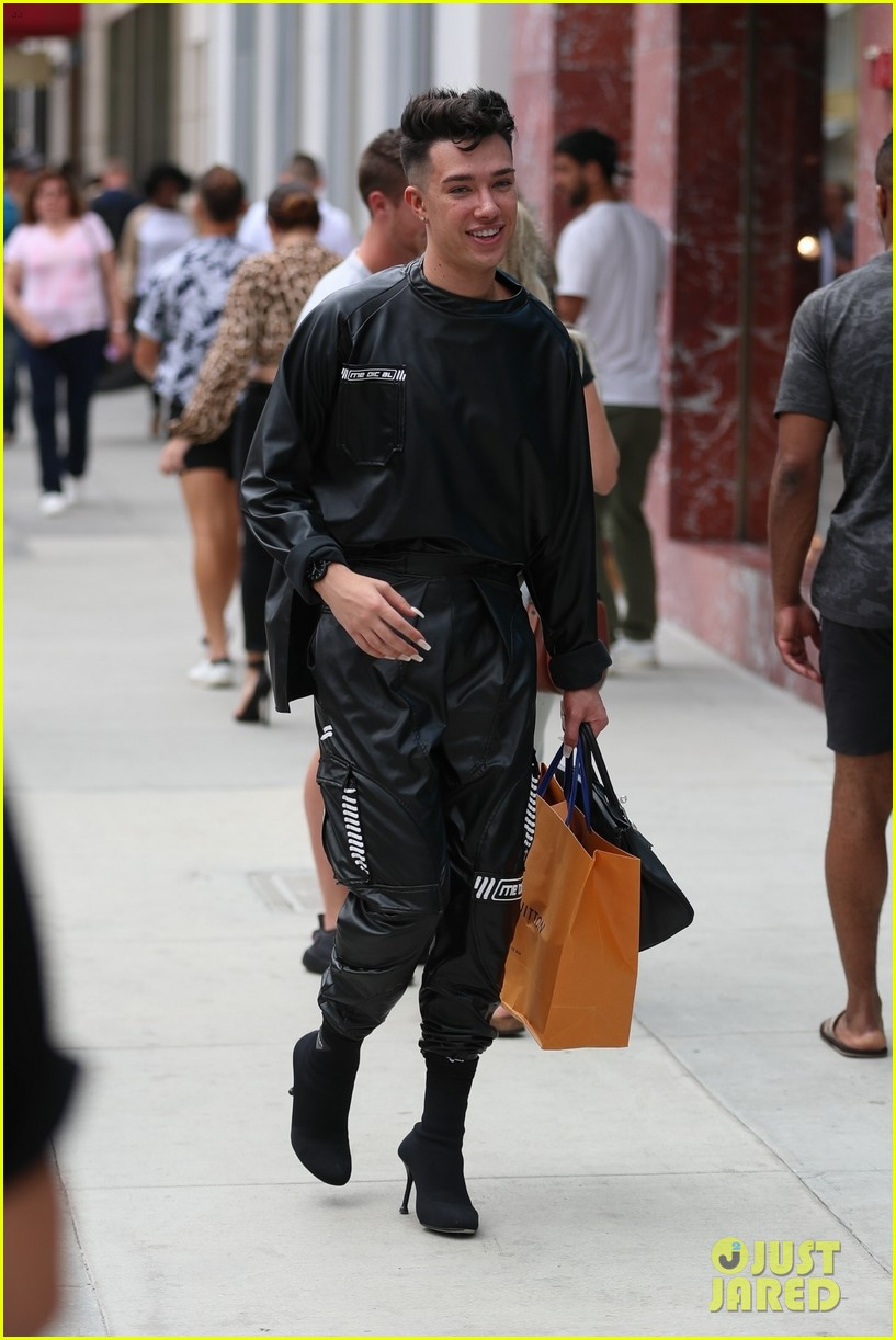 James Charles Steps Out to Do Some Shopping After Making YouTube