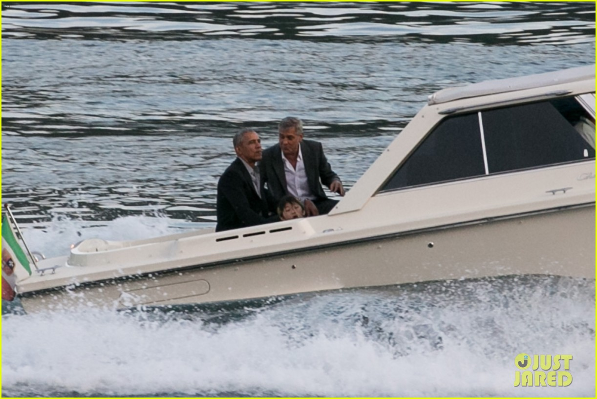 george clooney barack obama lake como 01