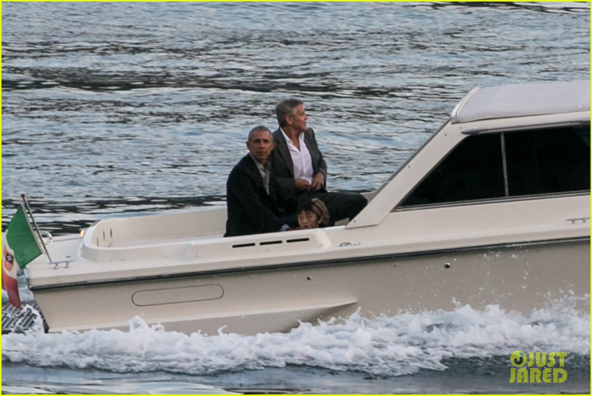 george clooney barack obama lake como 07