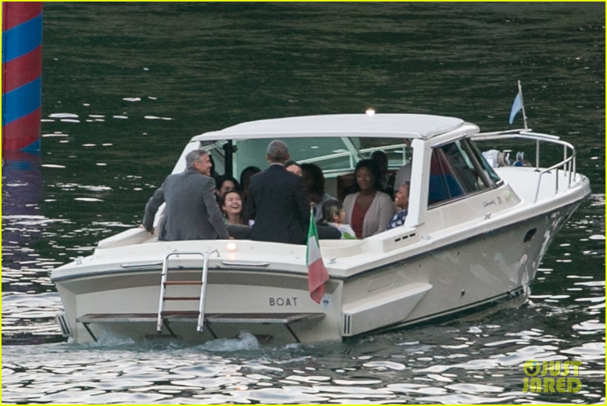 george clooney barack obama lake como 08