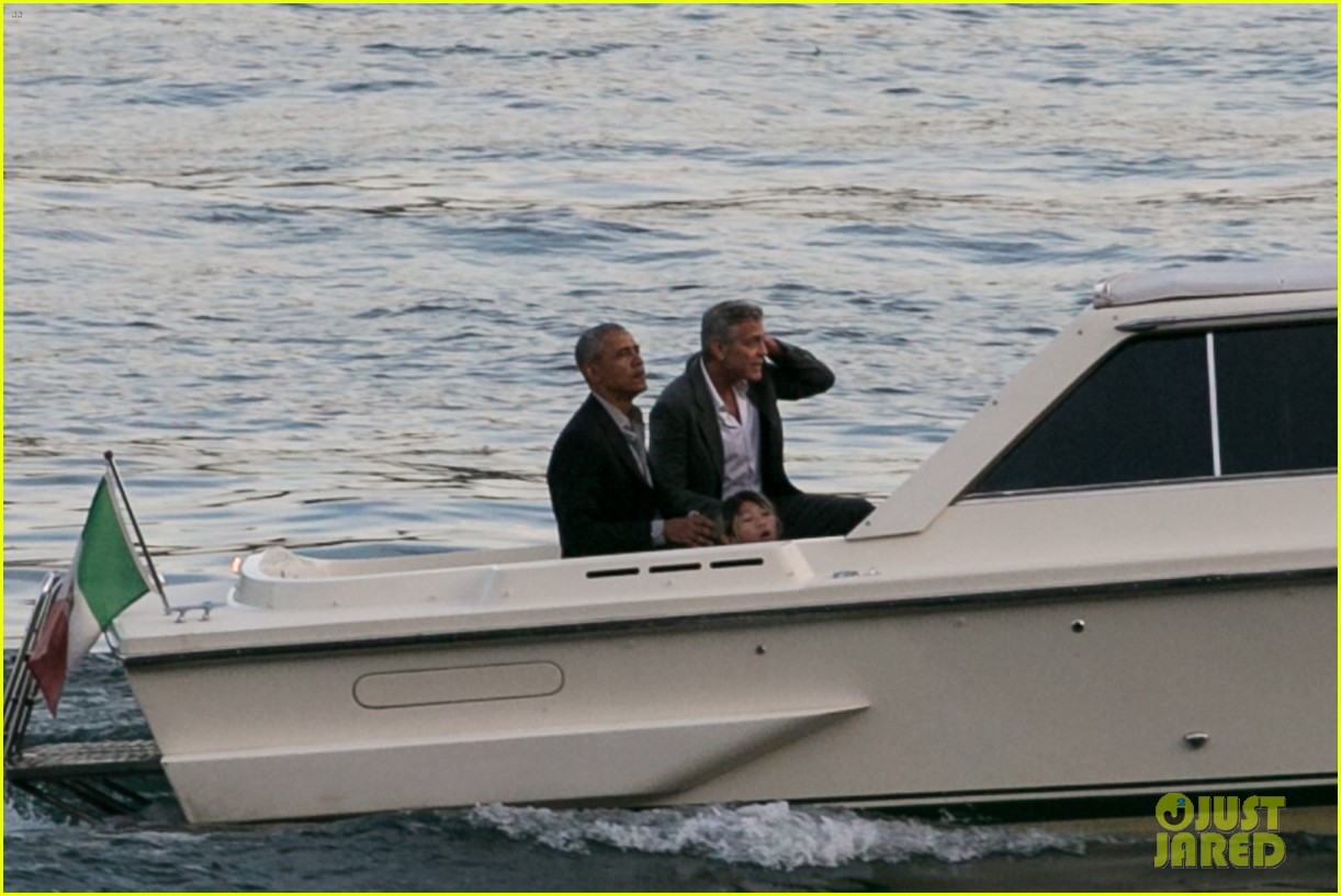 george clooney barack obama lake como 09