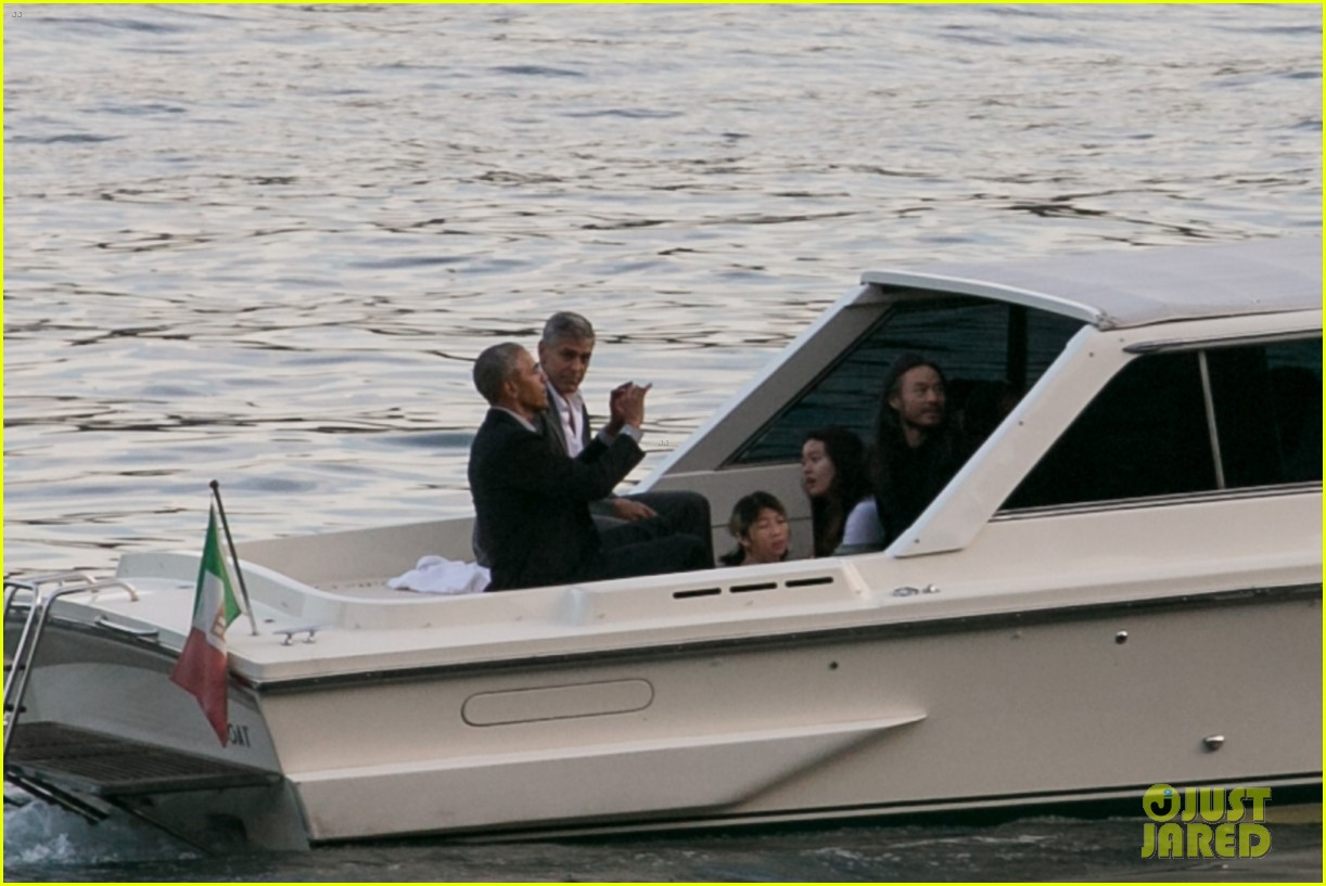 george clooney barack obama lake como 13