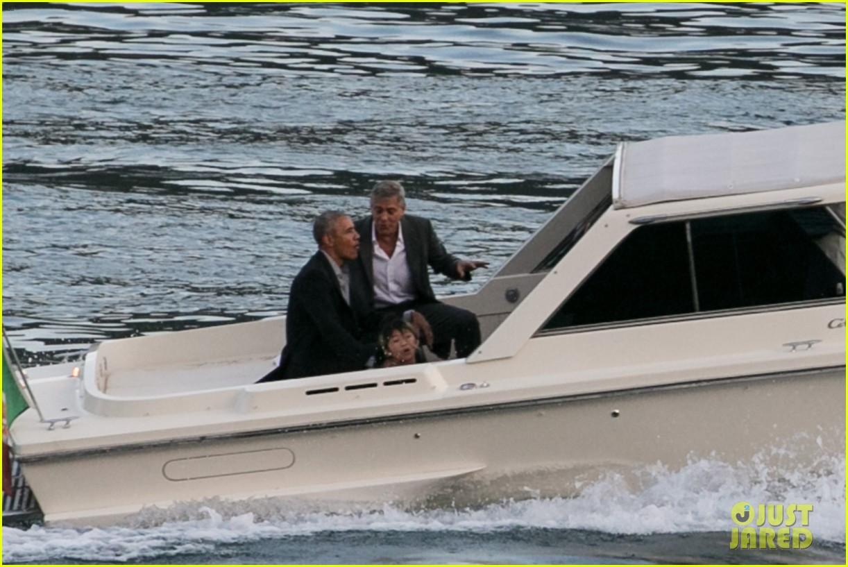 george clooney barack obama lake como 16
