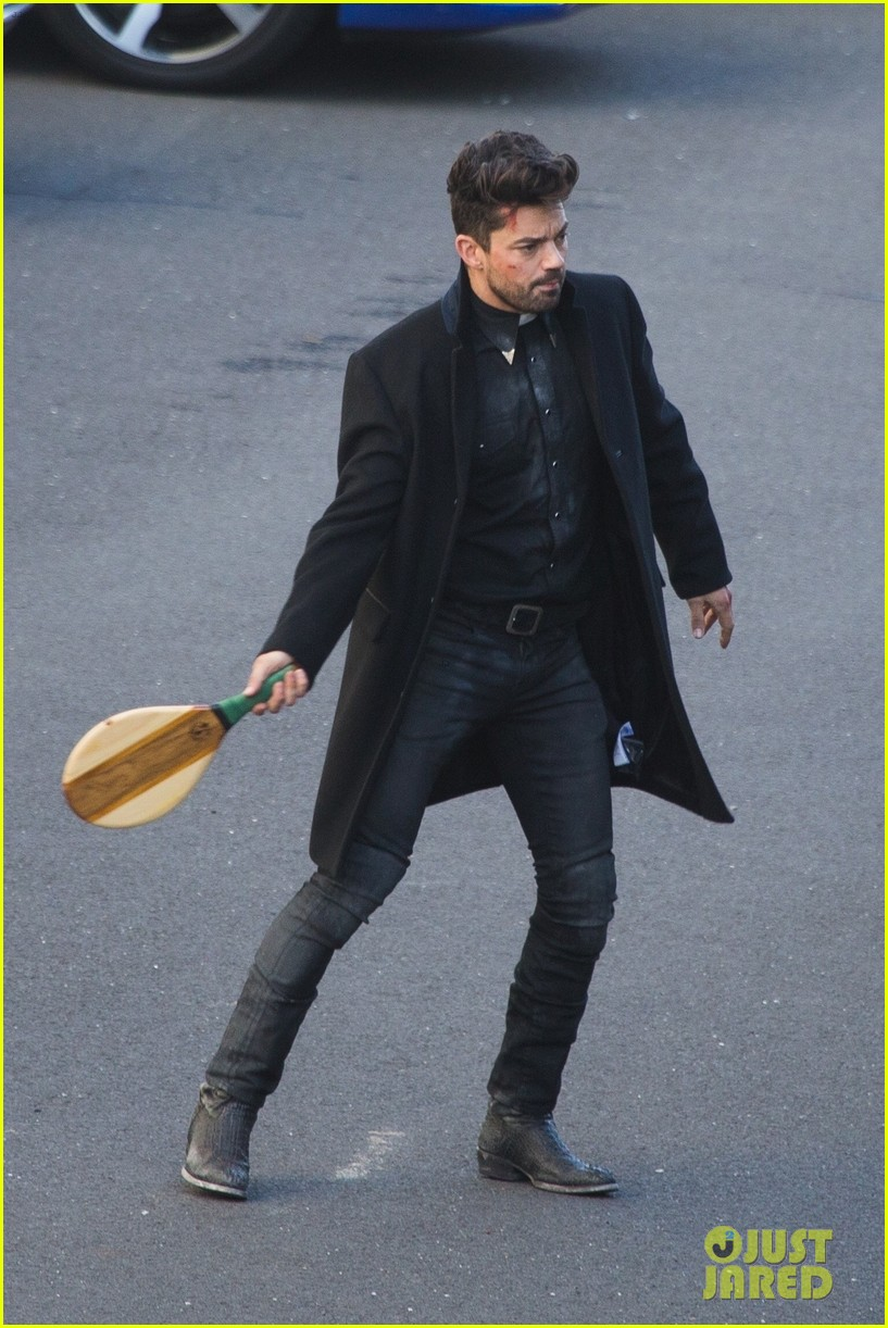 dominic cooper plays racquetball on preacher set 054309398