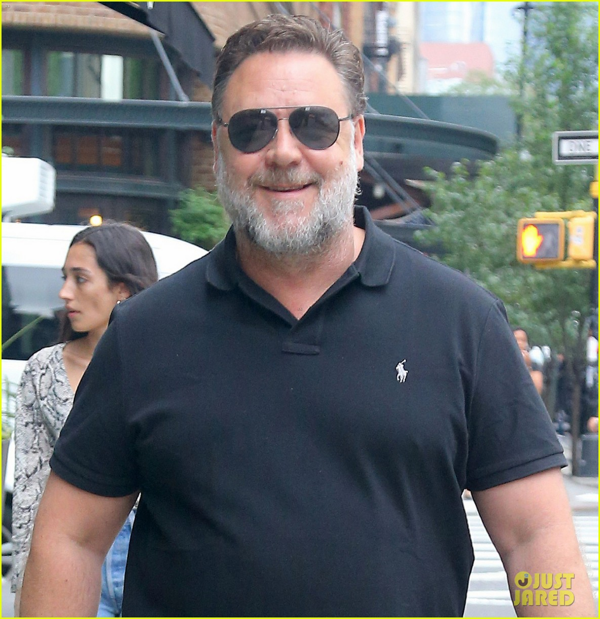 Russell Crowe Sports Full Beard While Promoting 'Loudest