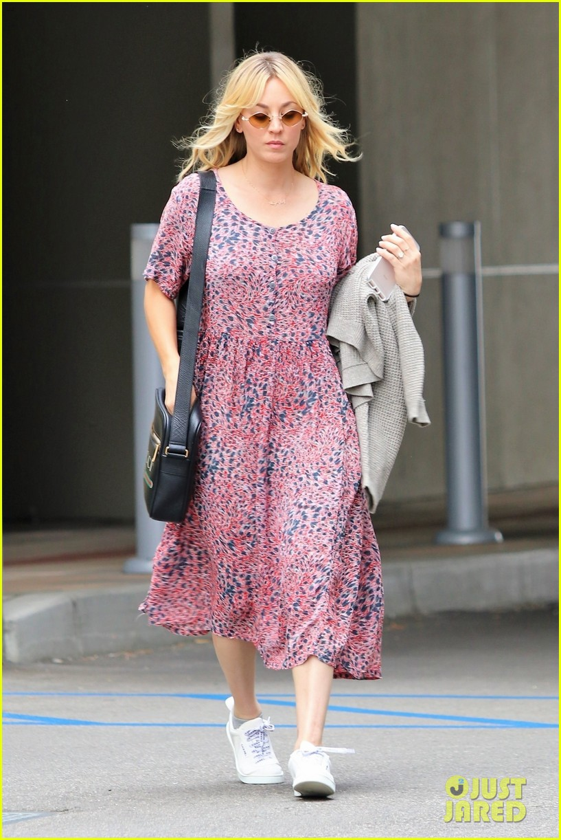 kaley cuoco goes pretty in pink for day out in la 054314798