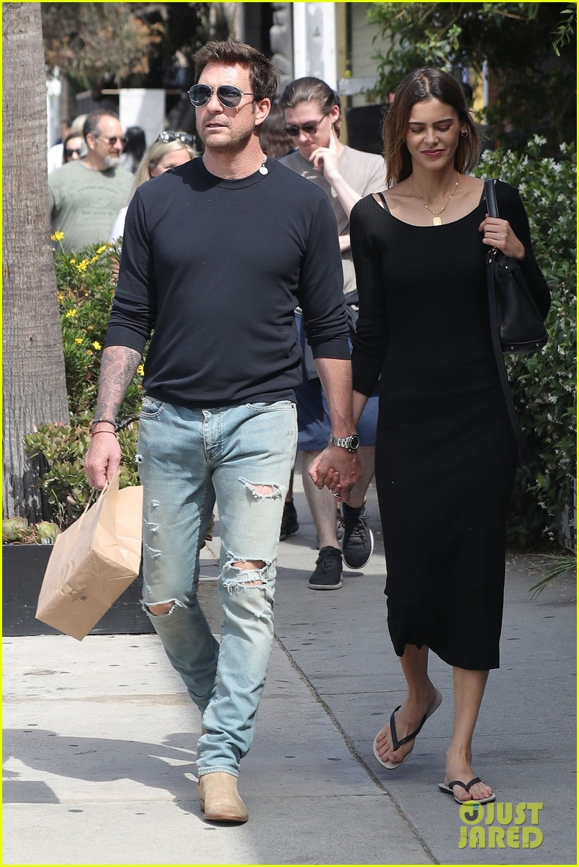 dylan mcdermott holds hands mystery woman during lunch 054310870