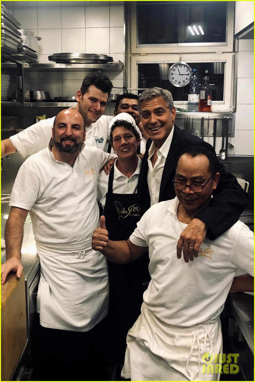George Clooney tormented By the staff Canalis in Italy, he