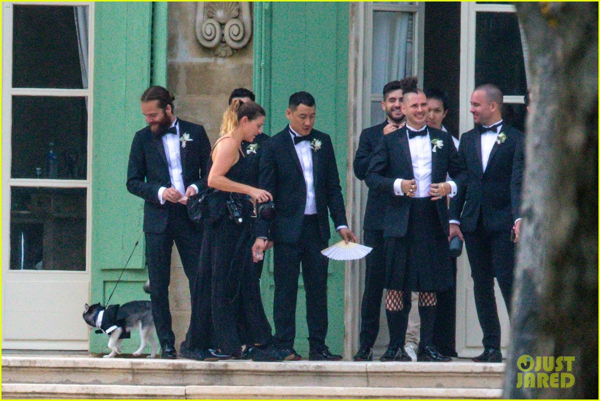 joe jonas sophie turner dog porky wears tux to wedding 064316029