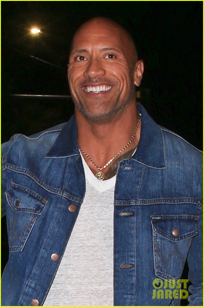 dwayne johnson is all smiles during night out 02