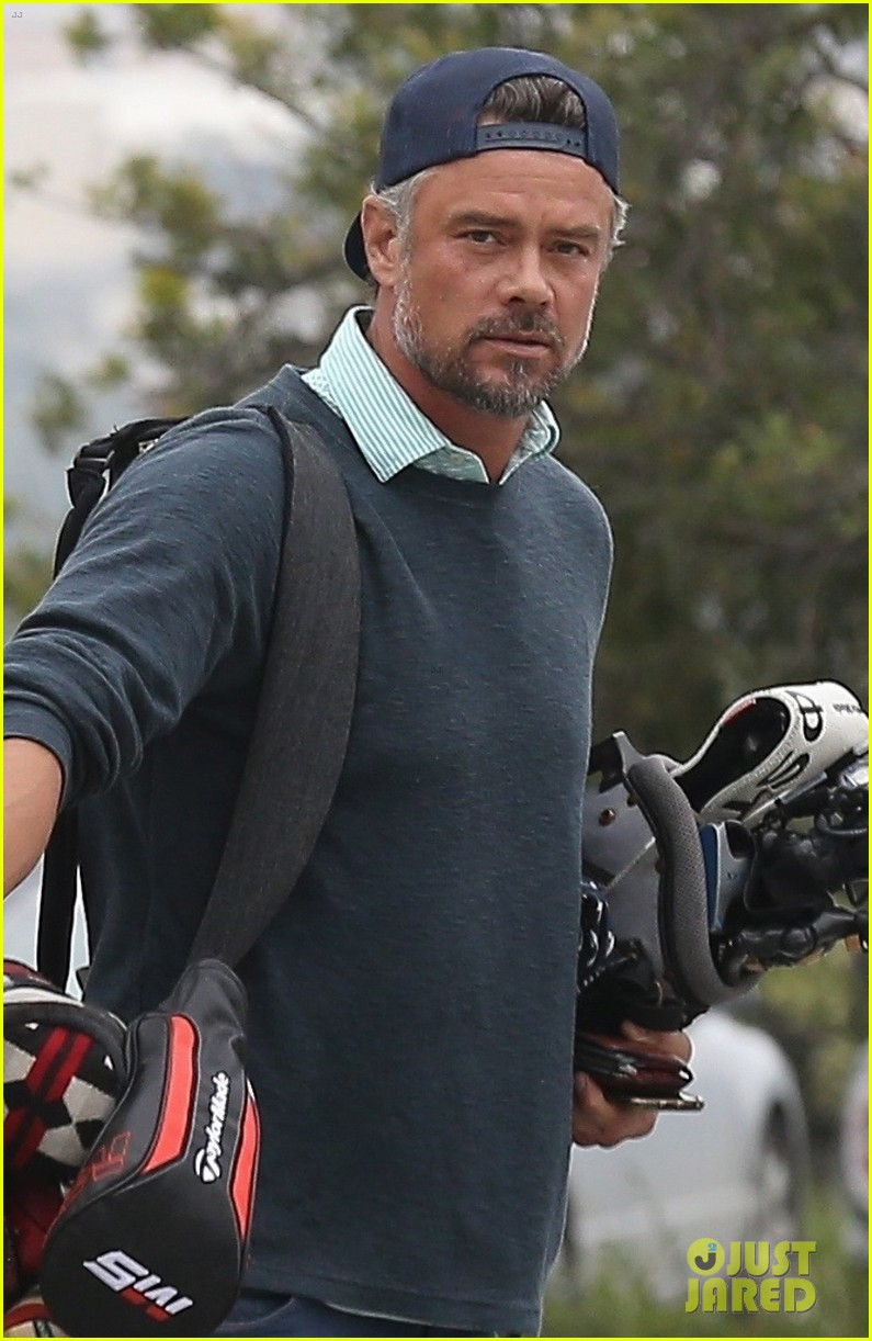 josh duhamel hits the golf course in los angeles 024301726