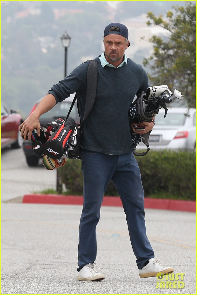 josh duhamel hits the golf course in los angeles 034301727