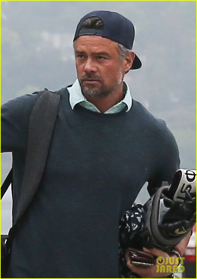 josh duhamel hits the golf course in los angeles 044301728