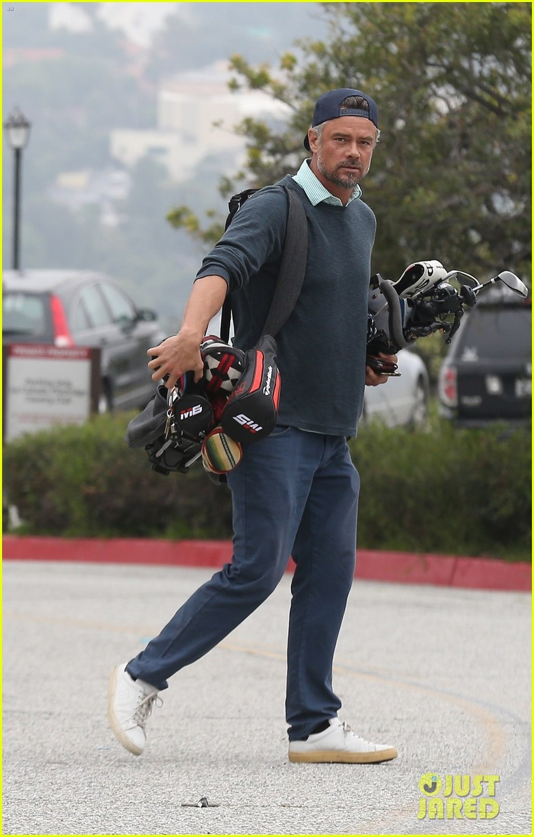 josh duhamel hits the golf course in los angeles 054301729
