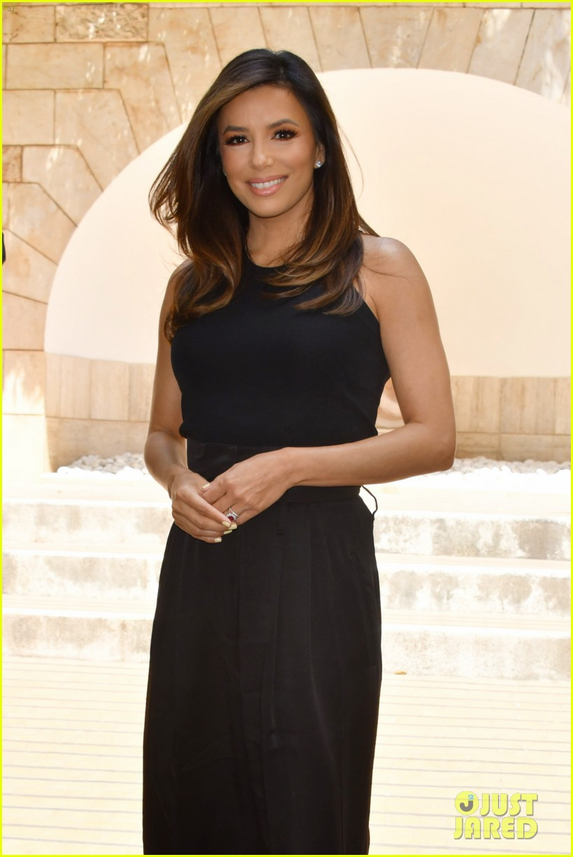 eva longoria dons chic black ensemble at filming italy sardegna festival 344309389