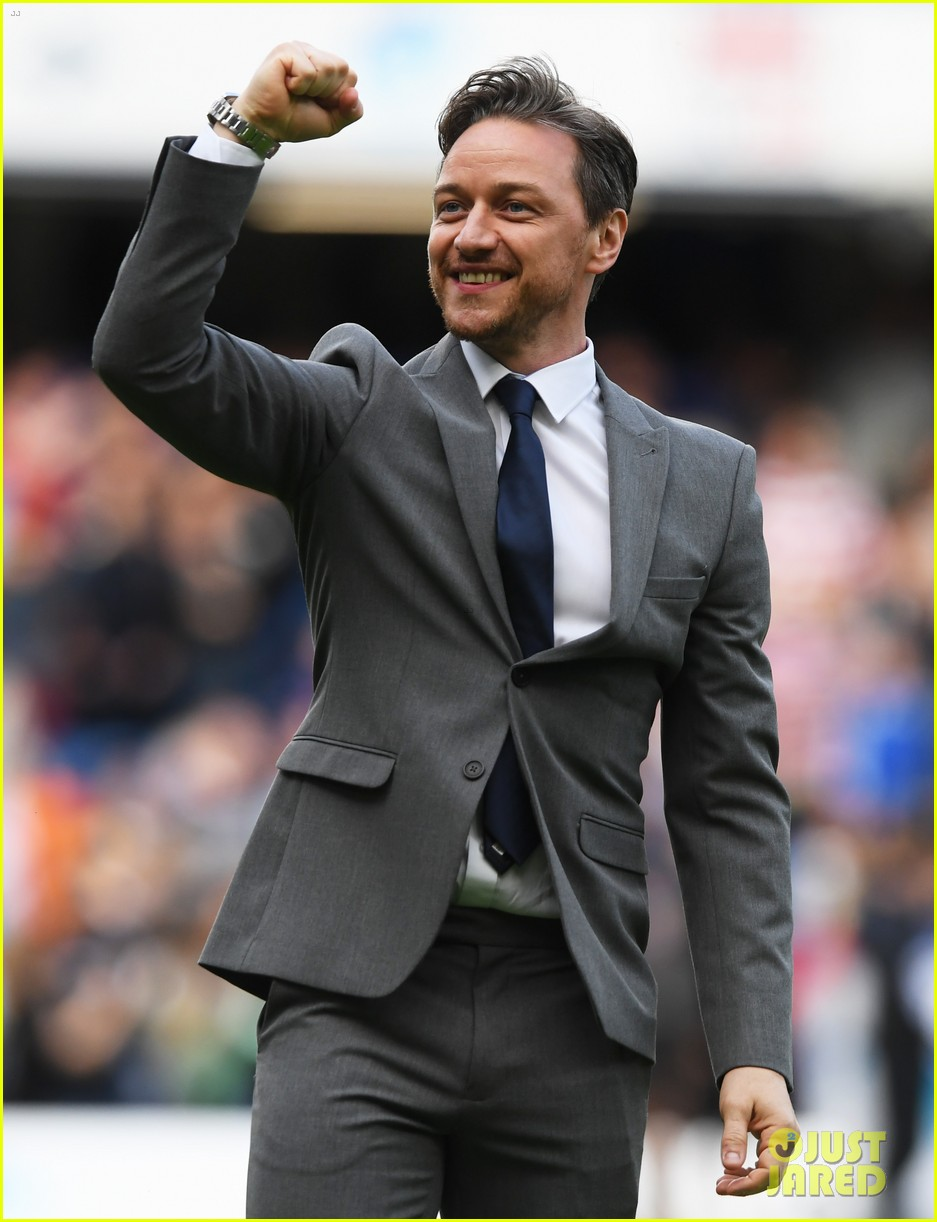james mcavoy hits the field soccer aid for unicef game 044310859