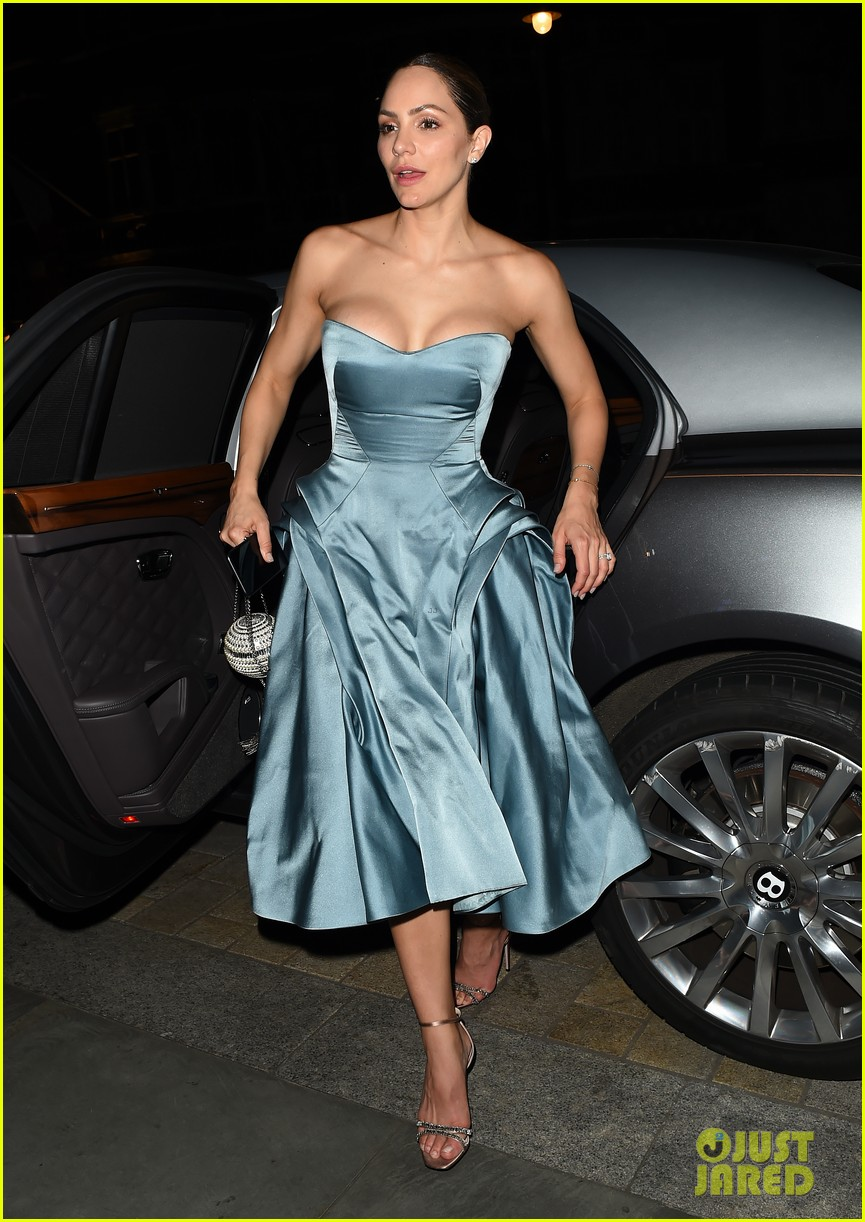 katharine mcphee changes into blue dress after wedding david foster 034315824