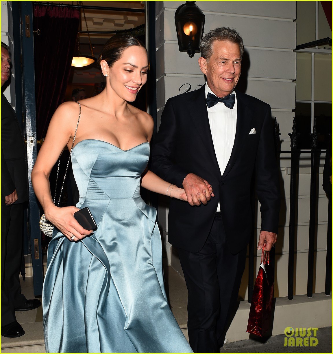 katharine mcphee changes into blue dress after wedding david foster 044315825