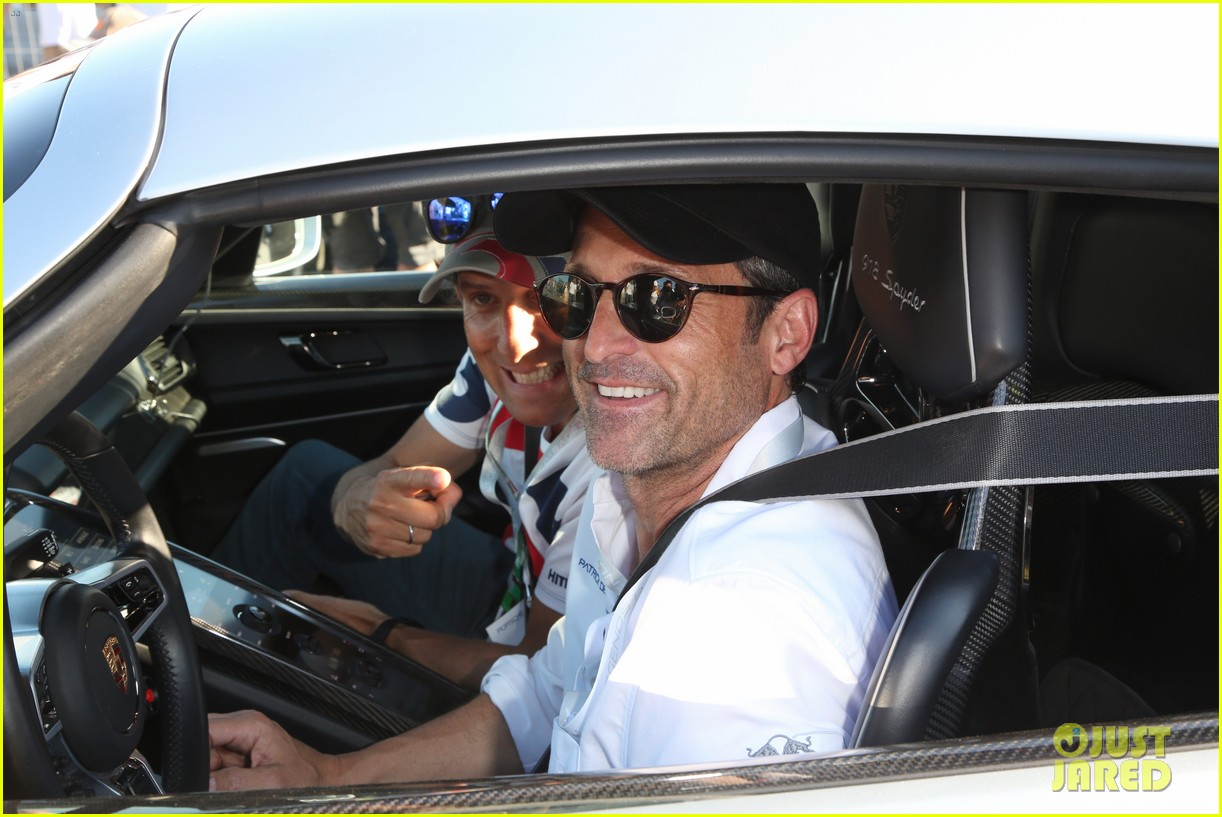 Patrick Dempsey Milo Ventimiglia Attend Racing Event In Austria