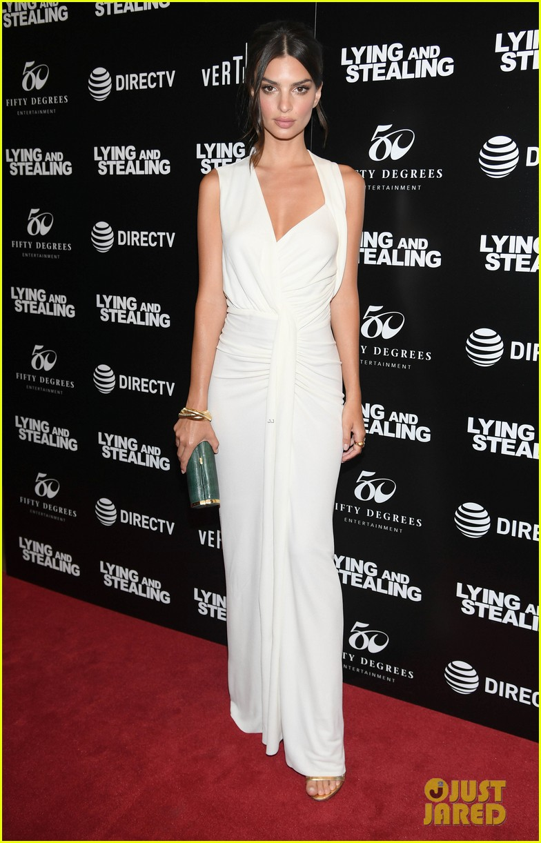 emily ratajkowski wows in white dress at lying and stealing screening in nyc 074311341