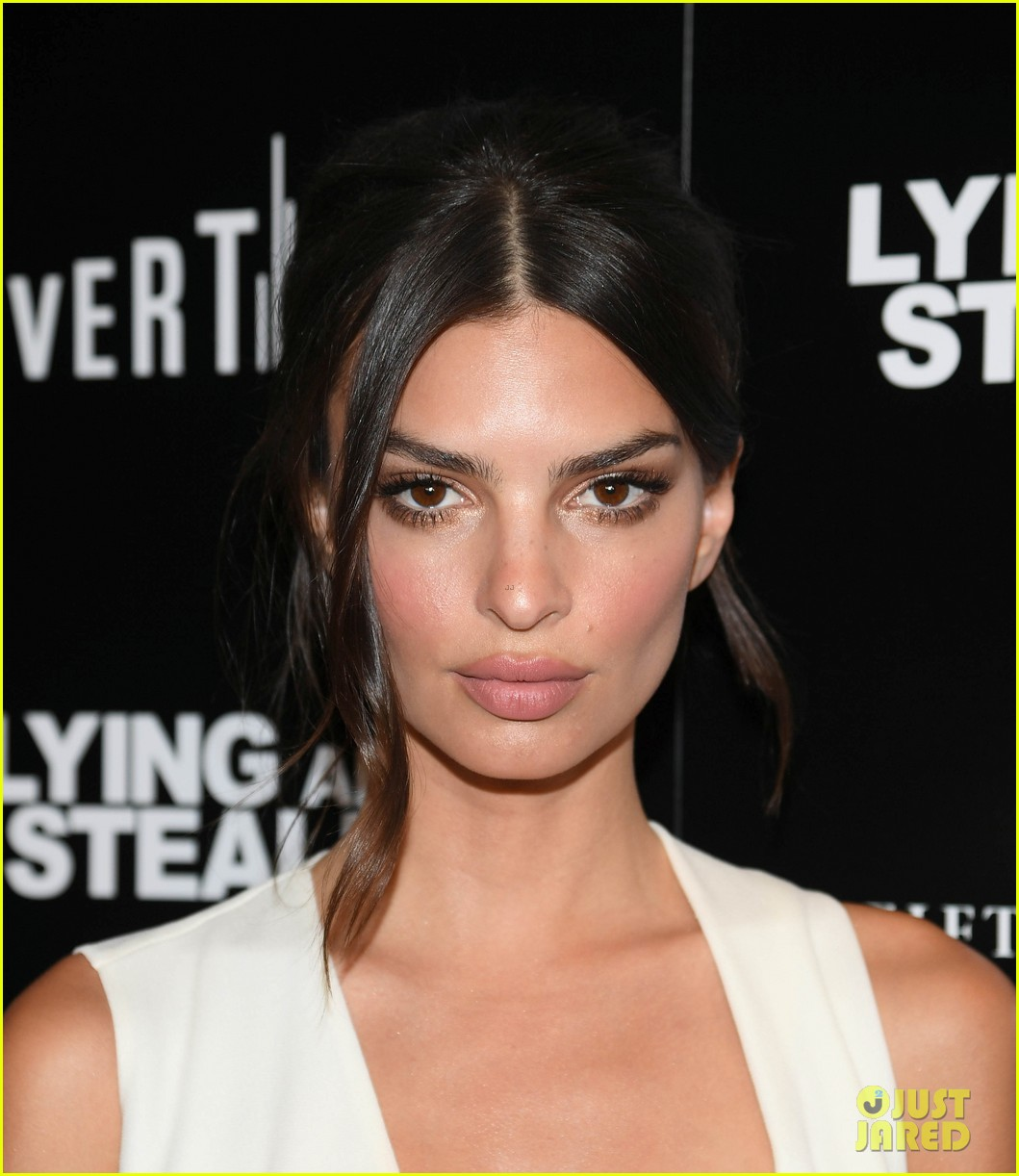 emily ratajkowski wows in white dress at lying and stealing screening in nyc 094311343