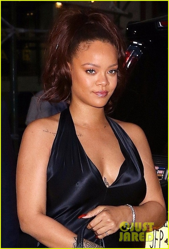 rihanna slips into black dress for party in nyc 024308199