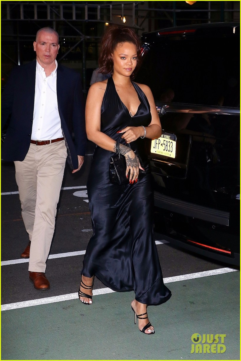 rihanna slips into black dress for party in nyc 03