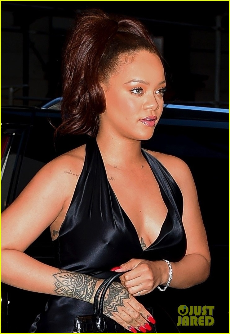 rihanna slips into black dress for party in nyc 04