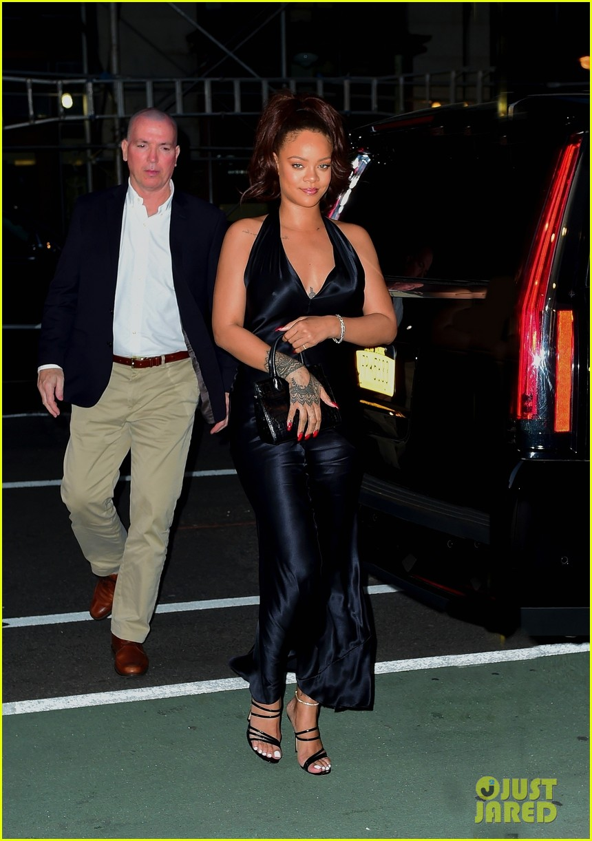 rihanna slips into black dress for party in nyc 07