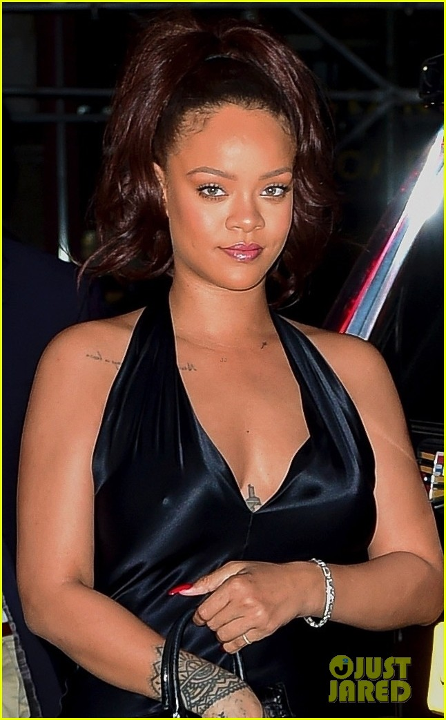 rihanna slips into black dress for party in nyc 084308205