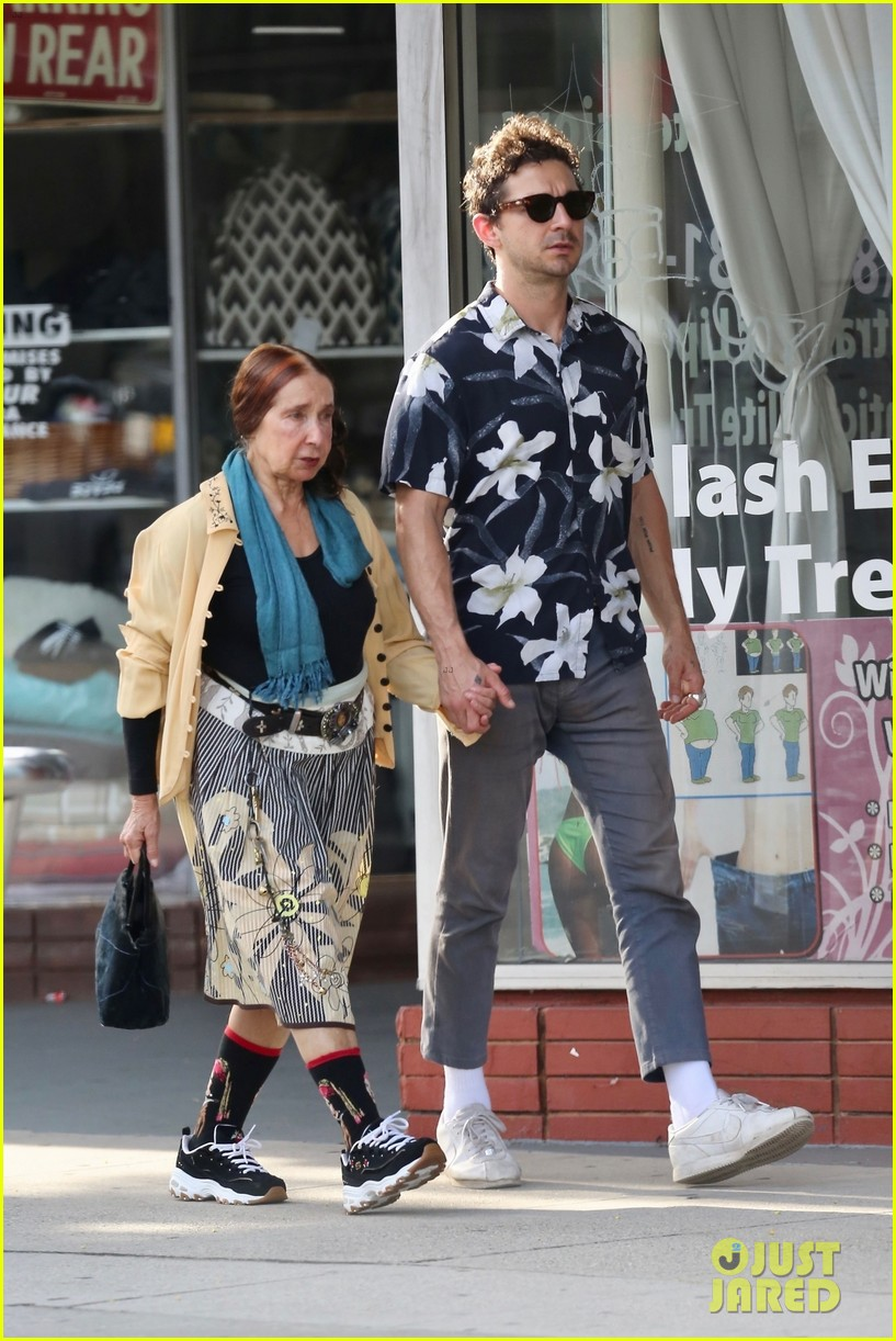 shia labeouf celebrates 33 birthday with his mom 054308466