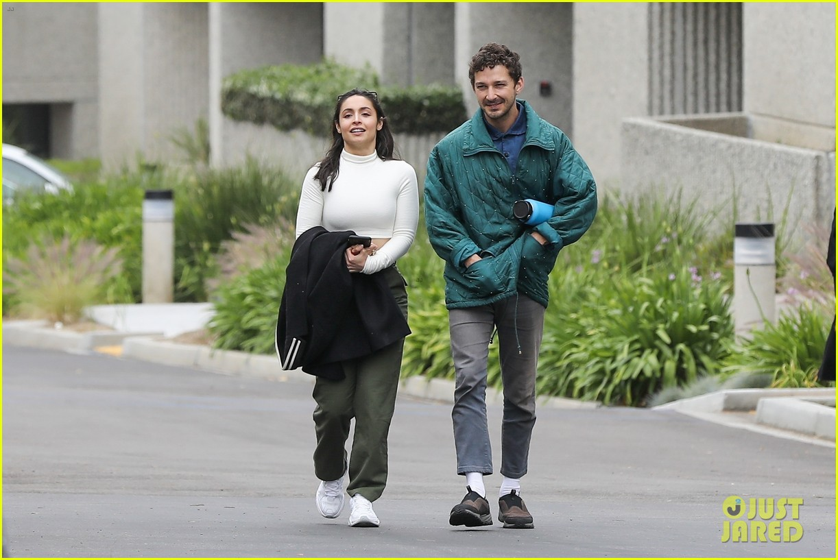 shia labeouf fka twigs on hold as he spends time with mystery brunette 014303536