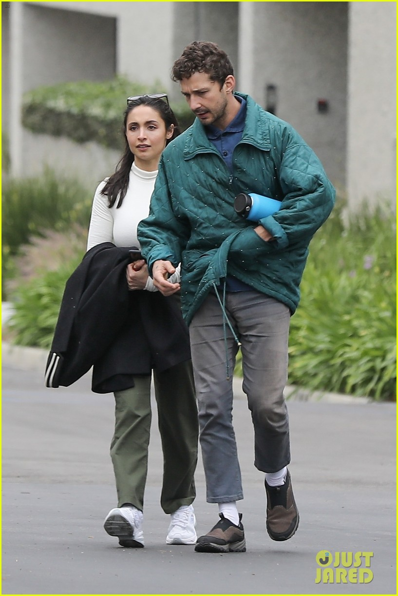 shia labeouf fka twigs on hold as he spends time with mystery brunette 024303537