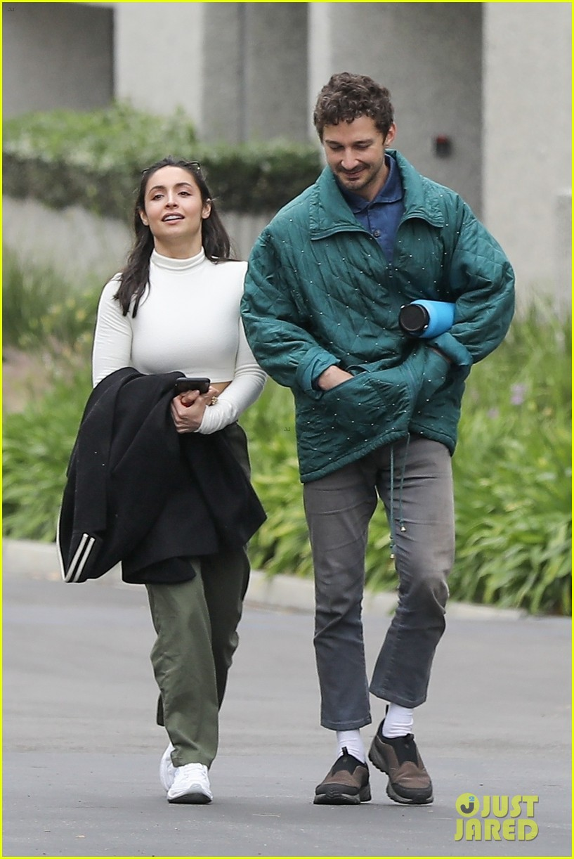 shia labeouf fka twigs on hold as he spends time with mystery brunette 034303538